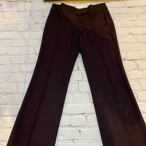 LOFT poly/rayon plum colored full-length trouser